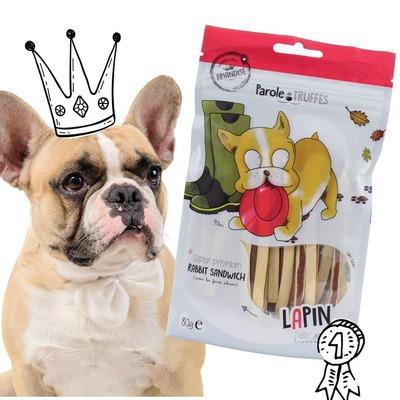 Une préférence pour le lapin ? C'est que votre loulou est dans la #TeamFilou ! 😜🐶 . 🐾 Découvrez notre gamme de friandises sans céréales, peu caloriques et idéales pour le jeu et l'éducation. 🐾  📲 Lien de la boutique en bio ! . . #paroledetruffes #friandises #dogsofinstagram #dog #cute #puppy #puppylove #petlover #dogfood #dogtreat #noglutendogfood #noglutenplease #bulldog #frenchbulldog