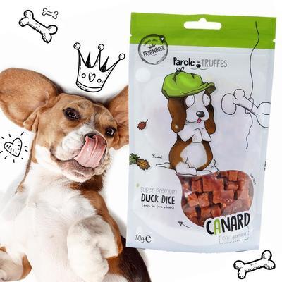 Avec le canard comme péché mignon, votre chien est dans la #TeamForest ! 😇🐶⠀ .⠀ 🐾 Découvrez notre gamme de friandises sans céréales, peu caloriques et idéales pour le jeu et l'éducation. 🐾⠀ ⠀ 📲 Lien de la boutique en bio !⠀ .⠀ .⠀ #paroledetruffes #friandises #dogsofinstagram #dog #cute #puppy #puppylove #petlover #dogfood #dogtreat #noglutendogfood #noglutenplease #beagleofinstagram #beagle #beaglelover